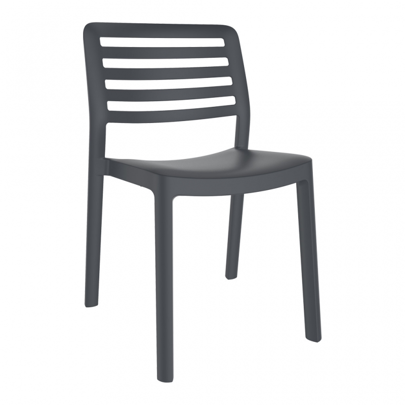 silla WIND color gris oscuro