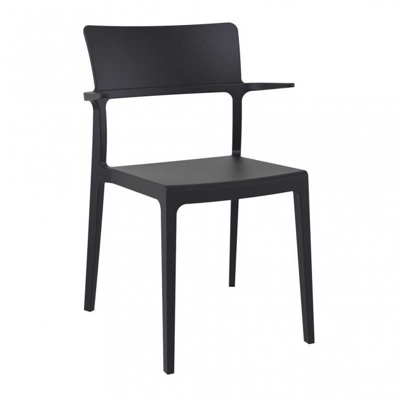 silla PLUS con brazos color negro