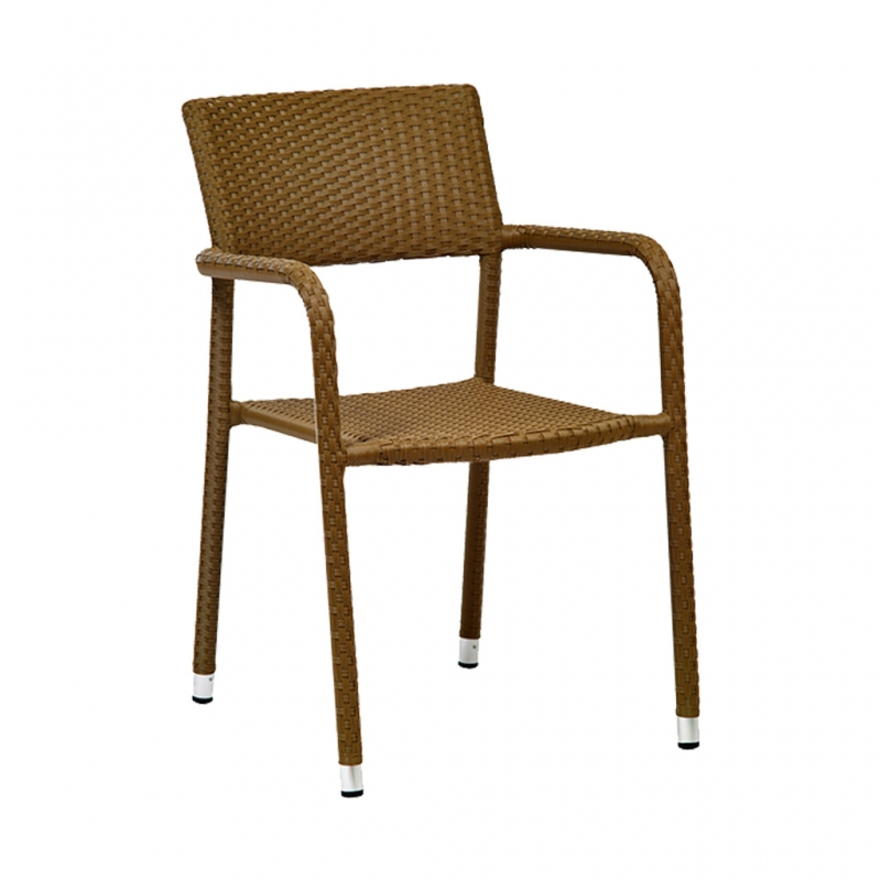 silla TRENZA color café