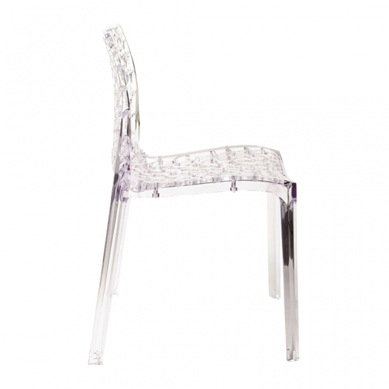 silla LIAR transparente silla LIAR transparente lateral