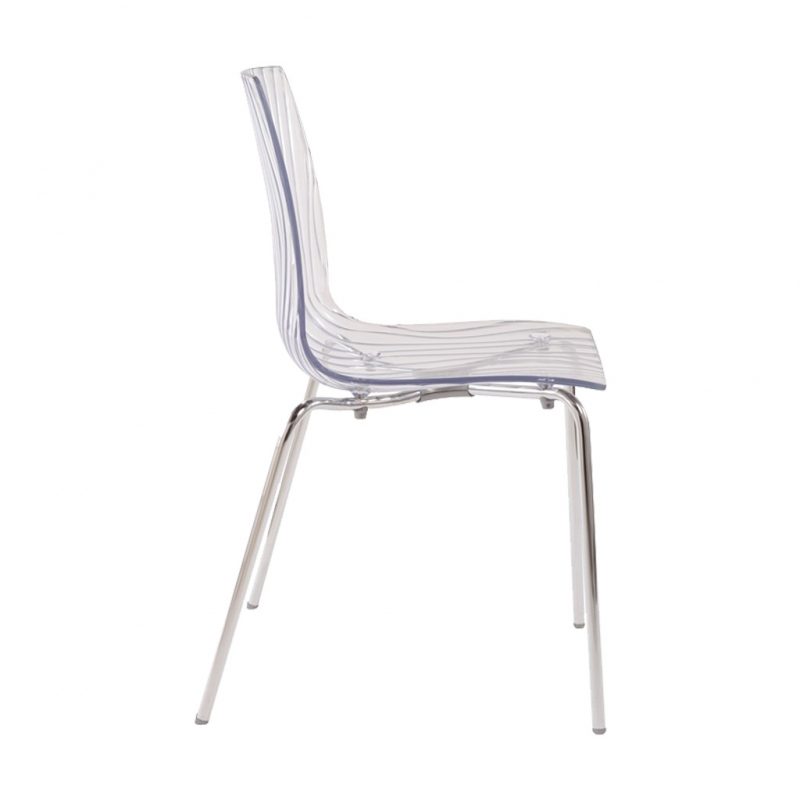silla GAUZY transparente silla GAUZY transparente lateral
