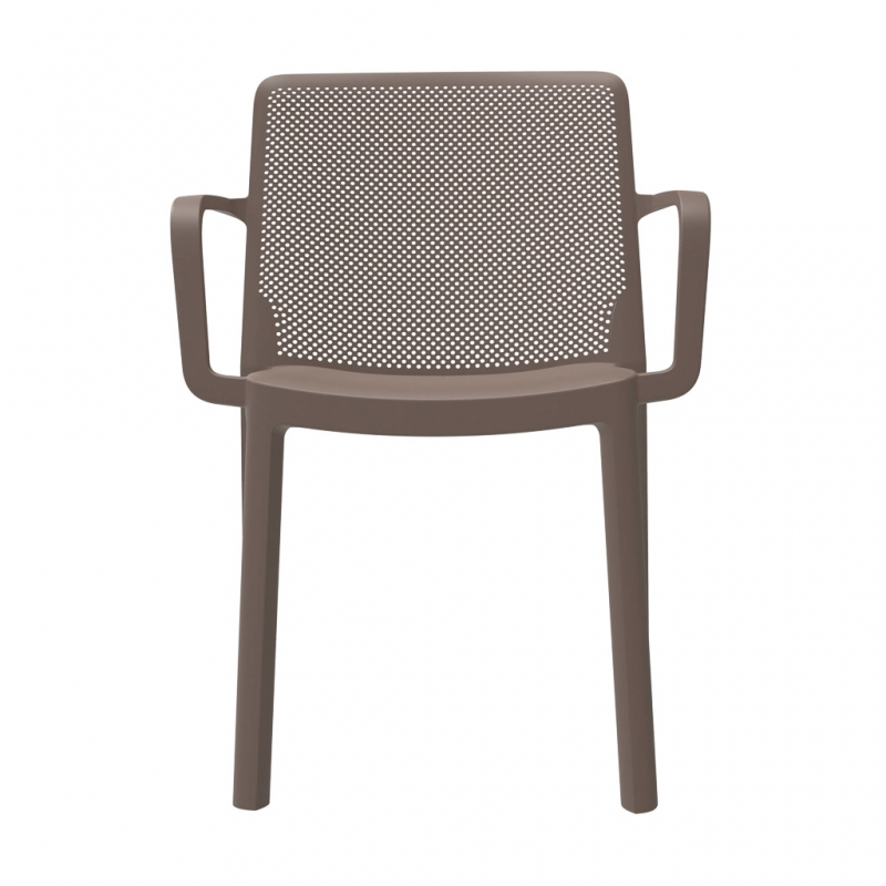 silla FRESH con brazos silla FRESH con brazos color chocolate de frente